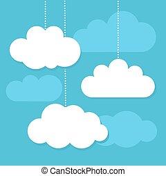 vetorial, nuvens