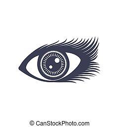 vetorial, olho, ilustração