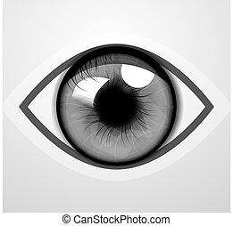 vetorial, olho