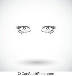 vetorial, olhos