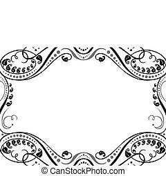 vetorial, ornamental, quadro