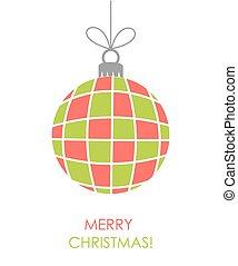 vetorial, ornamento, bauble natal