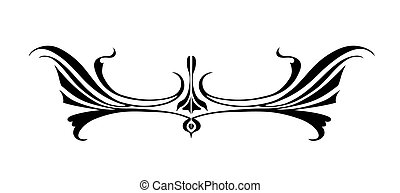 vetorial, ornamento, branco, fundo