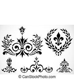 vetorial, ornamentos