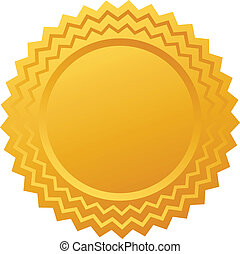 vetorial, ouro, certificado