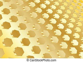 vetorial, ouro, fundo