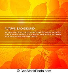 vetorial, outono, abstratos, floral, fundo
