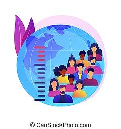 vetorial, overpopulation, illustration., conceito, abstratos