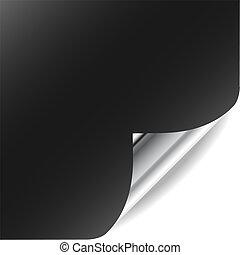vetorial, página, com, ondulado, canto, e, shadow., perfeitos, para, somando, texto, design., mais, em, meu, gallery.
