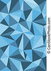 vetorial, padrão, triângulos, azul