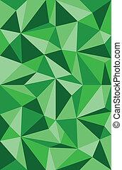 vetorial, padrão, triângulos, verde