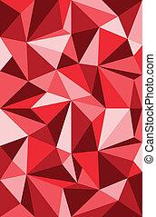 vetorial, padrão, triângulos, vermelho