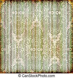 vetorial, papel, fundo, seamless, floral, textura, amarrotado, papel parede, listrado, queimadura