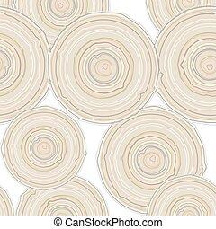 vetorial, pattern., seção, árvore, crucifixos, isolado, fundo, seamless, tronco, branca