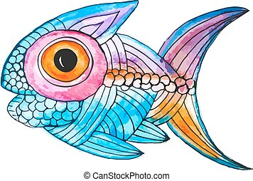 vetorial, peixe