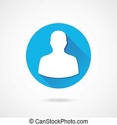 vetorial, perfil, ícone