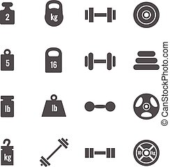 vetorial, peso, ícones