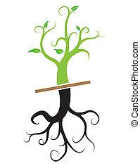vetorial, planta jovem