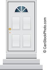 vetorial, porta, ilustração