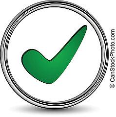 vetorial, positivo, checkmark