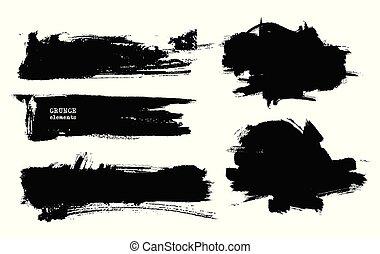vetorial, pretas, branca, paint.