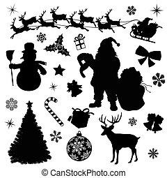 vetorial, pretas, natal, cobrança
