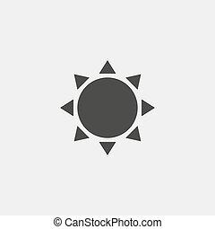 vetorial, pretas, sol, color., ícone, eps10, ilustração