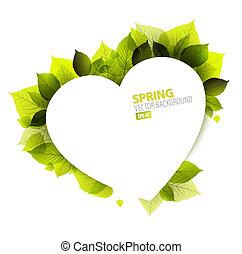 vetorial, primavera, abstratos, floral, fundo, (valentines, card)