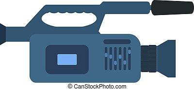 vetorial, profissional, câmera vídeo, ícone