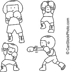 vetorial, pugilista, jogo