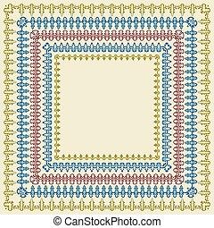 vetorial, quadrado, bordas