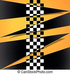vetorial, quadrado, correndo, ilustração, style., experiência., abstração, xadrez, correndo, seu, design.