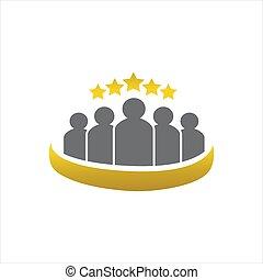 vetorial, qualidade, estrelas, 5, logotipo, estrela, desenho, cinco, prêmio, ilustração