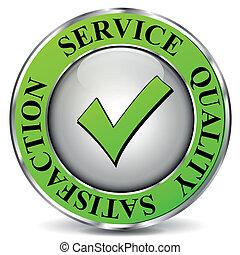 vetorial, qualidade, serviço, ícone
