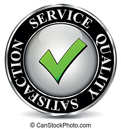vetorial, qualidade, serviço, etiqueta