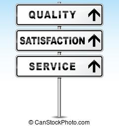vetorial, qualidade, signpost