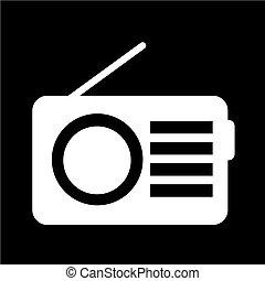 vetorial, rádio, ilustração, ícone