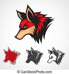 vetorial, raposa vermelha