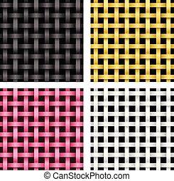 vetorial, rattan, seamless, padrão, tecer