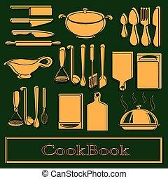 vetorial, receita, book., modelo