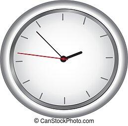 vetorial, redondo, relógio