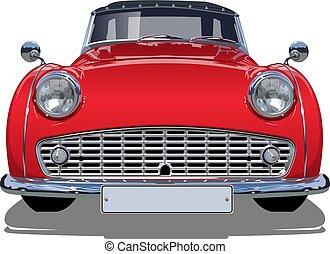 vetorial, retro, car