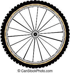 vetorial, roda bicicleta