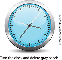 vetorial, rosto relógio, -, fácil, mudança, tempo