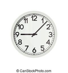 vetorial, rosto relógio