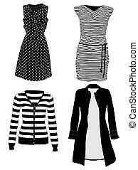 vetorial, roupas