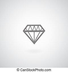 vetorial, símbolo, diamante
