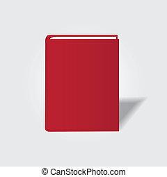 vetorial, símbolo., livro, desenho, seu, ícone