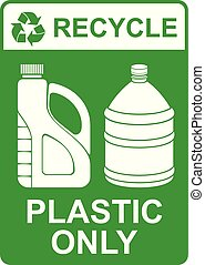 vetorial, só, recicle, sinal, plástico, ?