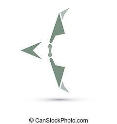 vetorial, sagittarius, ilustração, signos